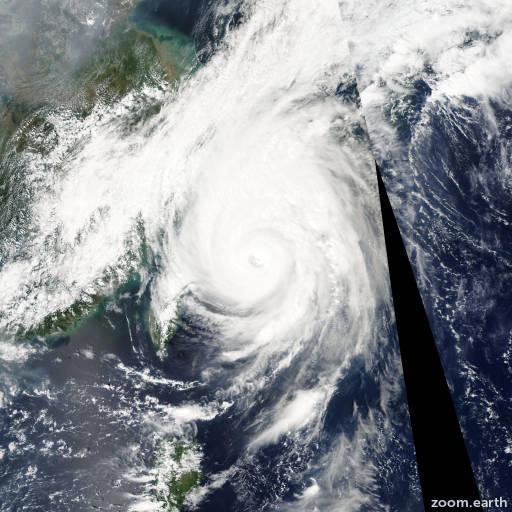 Satellite image of Typhoon Shanshan 2006
