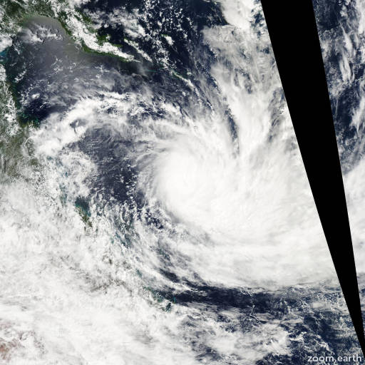 Satellite image of Cyclone Wati 2006