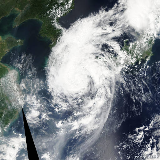 Satellite image of Storm Wukong 2006