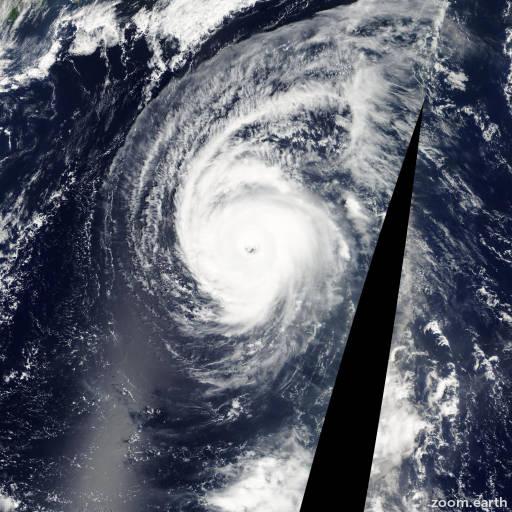 Satellite image of Typhoon Yagi 2006
