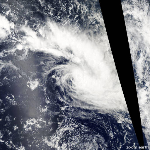 Satellite image of Cyclone Arthur 2007