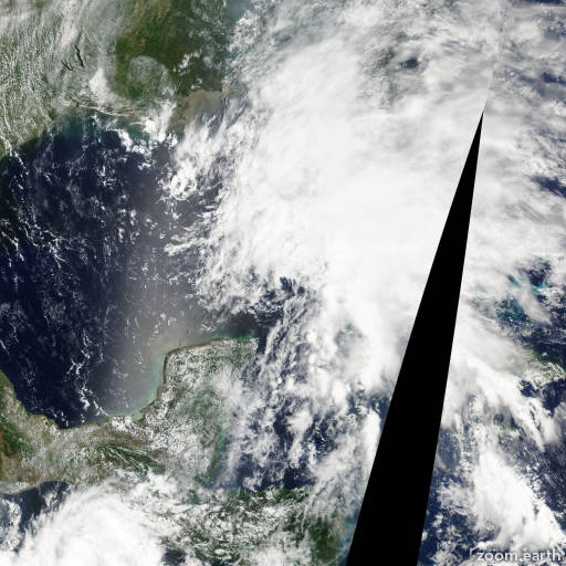 Satellite image of Storm Barry 2007