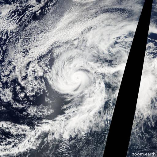 Satellite image of Hurricane Cosme 2007