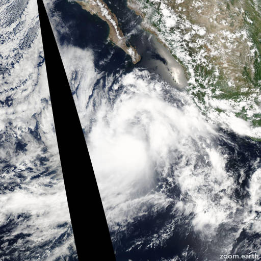 Satellite image of Storm Dalila 2007