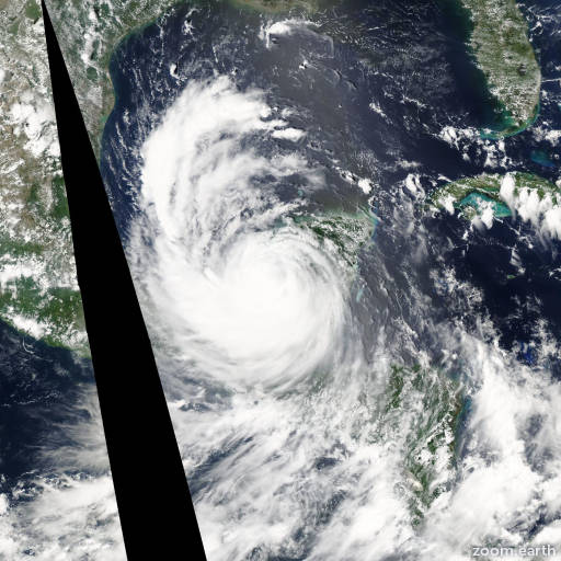 Satellite image of Hurricane Dean 2007
