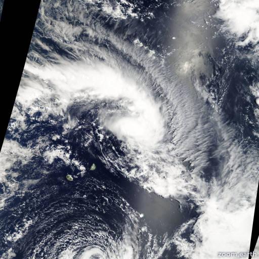Satellite image of Storm Enok 2007