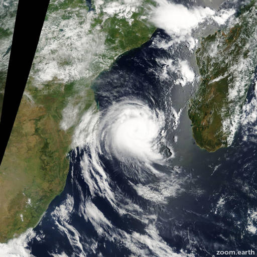 Satellite image of Cyclone Favio 2007