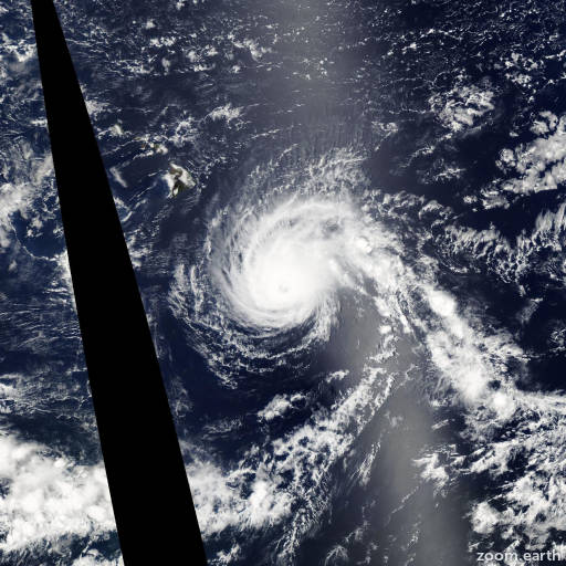 Satellite image of Hurricane Flossie 2007