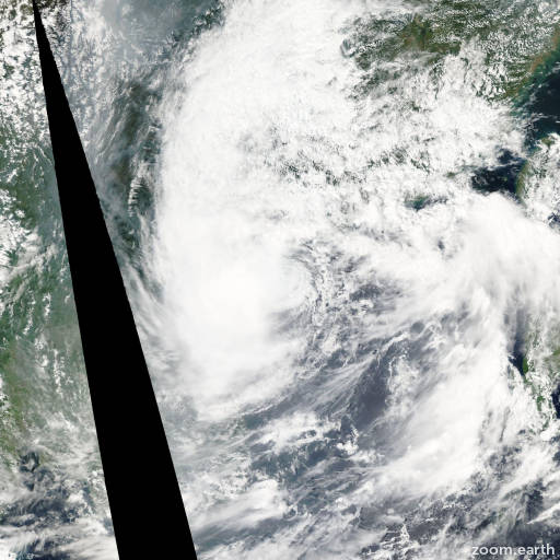 Satellite image of Storm Francisco 2007