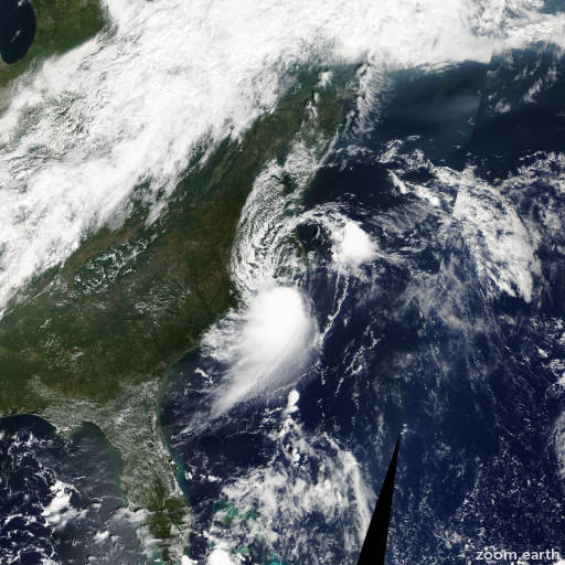 Satellite image of Storm Gabrielle 2007
