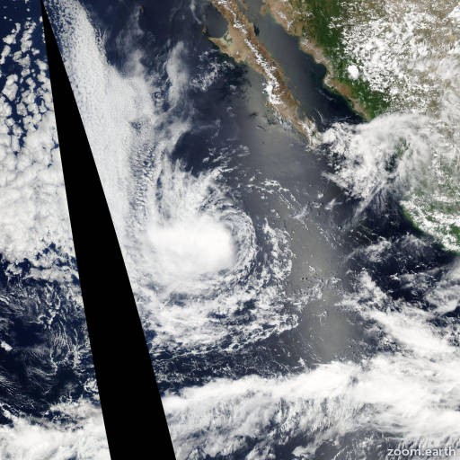 Satellite image of Storm Gil 2007