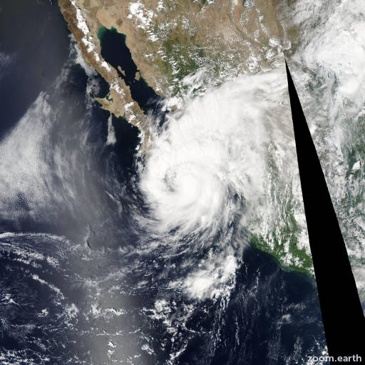Satellite image of Hurricane Henriette 2007