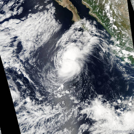 Satellite image of Hurricane Ivo 2007