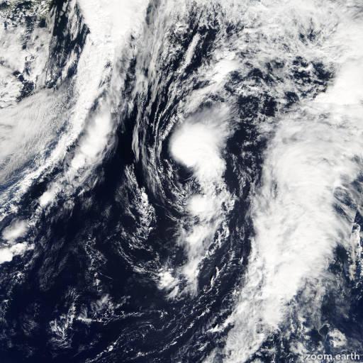 Satellite image of Storm Jerry 2007