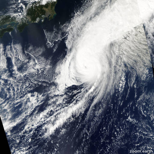 Satellite image of Typhoon Kajiki 2007