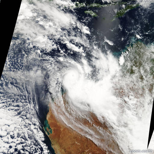 Satellite image of Cyclone Kara 2007
