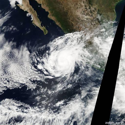 Satellite image of Storm Kiko 2007