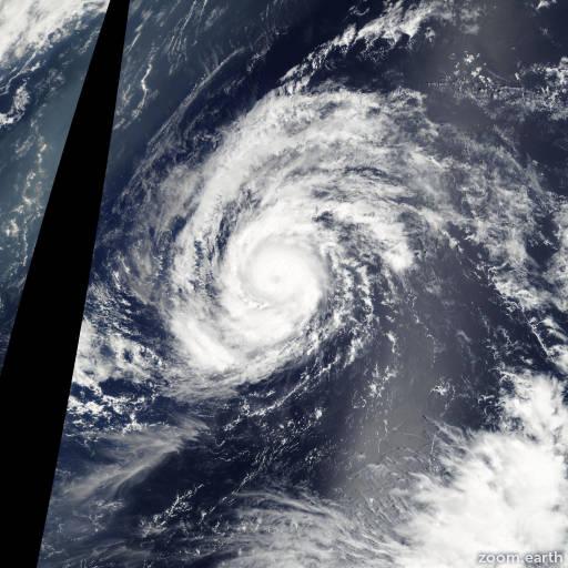 Satellite image of Typhoon Kong-Rey 2007