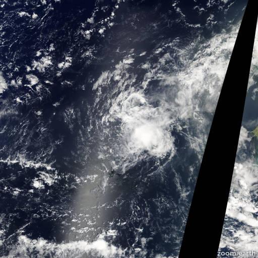 Satellite image of Storm Melissa 2007