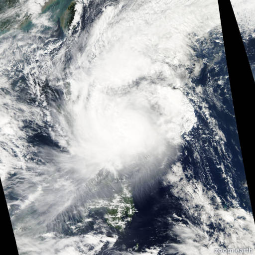 Satellite image of Typhoon Mitag 2007
