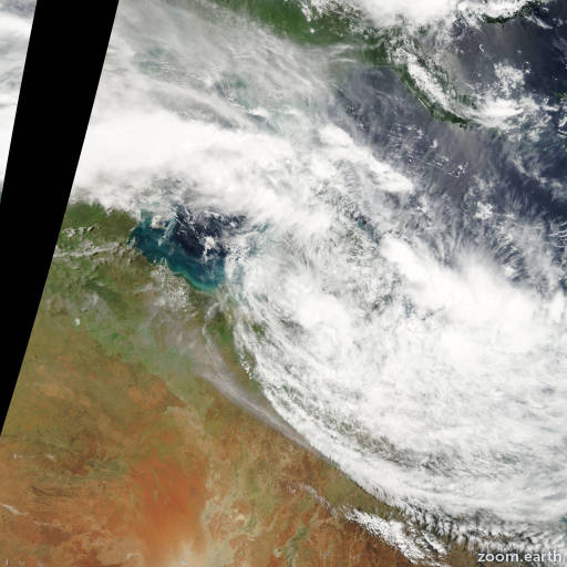 Satellite image of Cyclone Nelson 2007