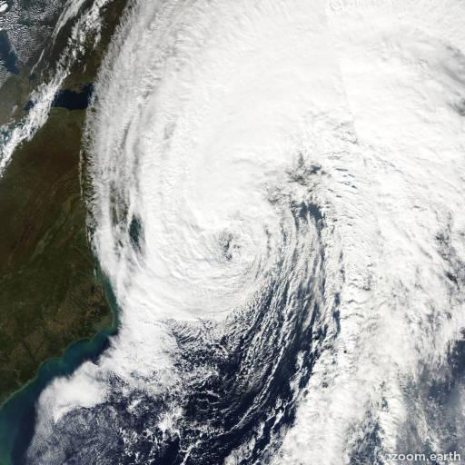 Satellite image of Hurricane Noel 2007