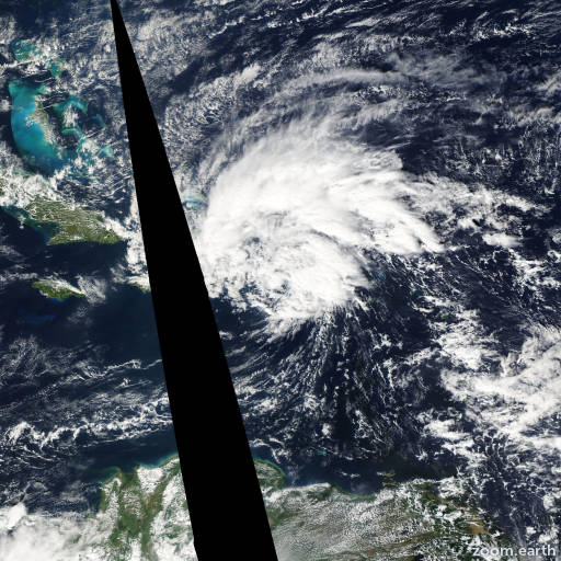 Satellite image of Storm Olga 2007