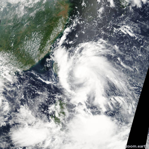 Satellite image of Storm Pabuk 2007