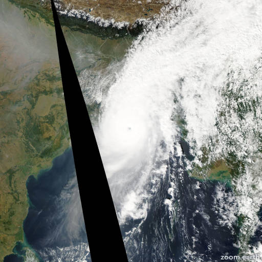 Satellite image of Cyclone Sidr 2007