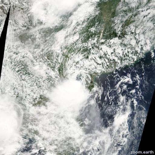 Satellite image of Storm Toraji 2007