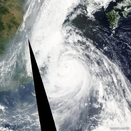 Satellite image of Typhoon Wipha 2007