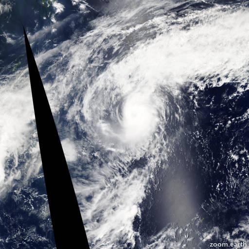 Satellite image of Typhoon Yutu 2007