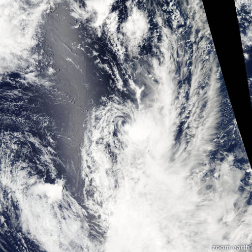 Satellite image of Cyclone Zita 2007
