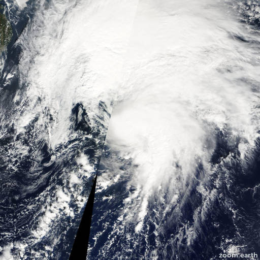 Satellite image of Storm Bavi 2008