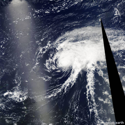 Satellite image of Hurricane Bertha 2008