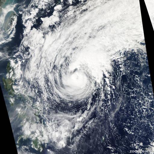 Satellite image of Typhoon Dolphin 2008