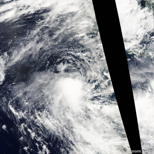 Satellite image of Cyclone Durga 2008