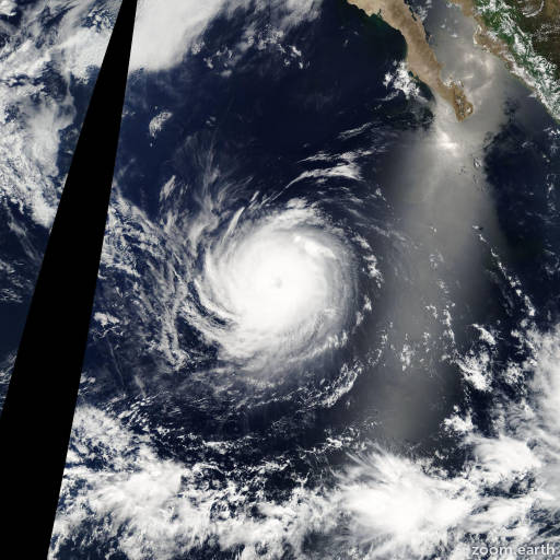 Satellite image of Hurricane Elida 2008