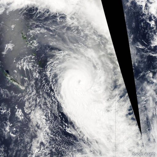 Satellite image of Cyclone Funa 2008