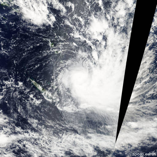 Satellite image of Cyclone Gene 2008