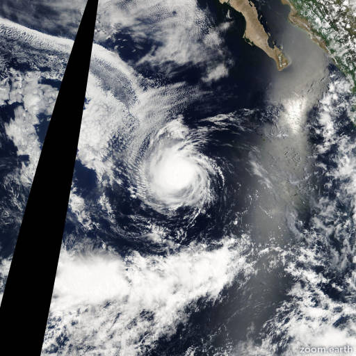 Satellite image of Hurricane Genevieve 2008