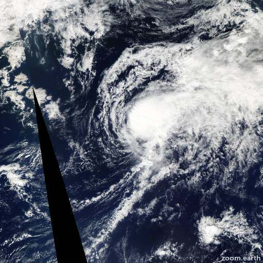 Satellite image of Storm Haishen 2008