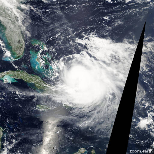 Satellite image of Hurricane Hanna 2008