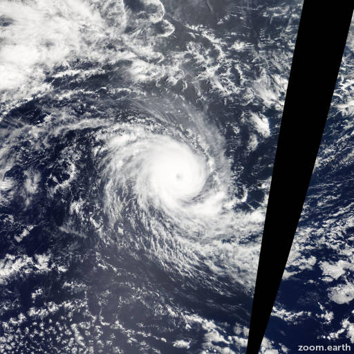 Satellite image of Cyclone Hondo 2008