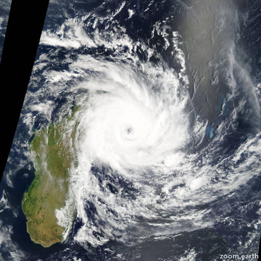 Satellite image of Cyclone Ivan 2008