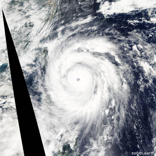 Satellite image of Typhoon Jangmi 2008