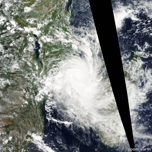 Satellite image of Cyclone Jokwe 2008