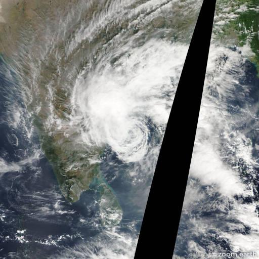 Satellite image of Cyclone Khai-Muk 2008