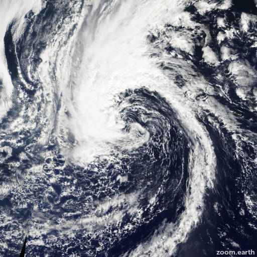 Satellite image of Storm Laura 2008