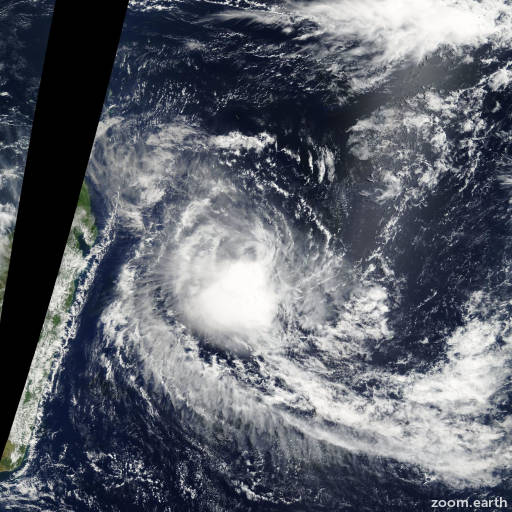 Satellite image of Depression Lola 2008